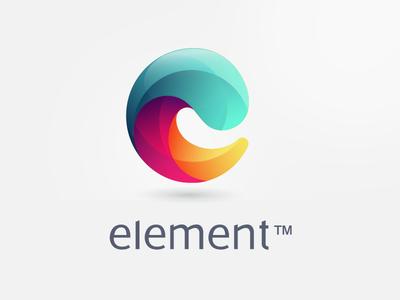 Element e initial custom-made logo colorful