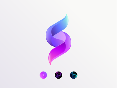 Sisu vibrant s mark vector colorful logo initial