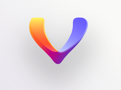 Sisu lilac orange strength victory abstract violet yellow mark vector colorful logo