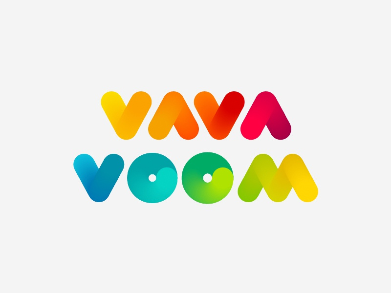 Vavavoom Rainbow rainbow soft colorful simple logo rounded