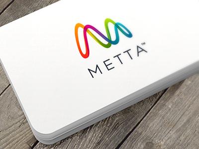 Metta colorful m smartware metta initial logo sinus curves rainbow