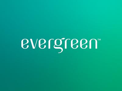 Evergreen grønlund green evergreen logotype logo