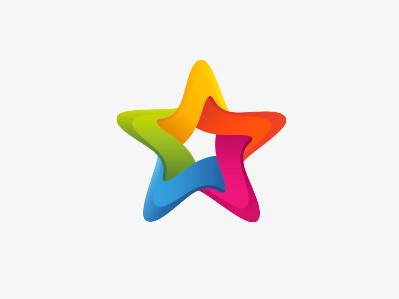 Star colorful logo star