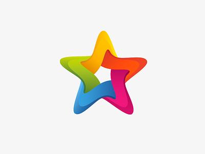 Star colorful logo star