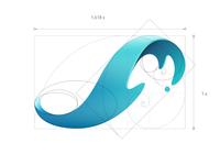 Surge sustainable innovation freeform gradient green energy neuroscience illustrator logo golden ratio hokusai science ocean wave