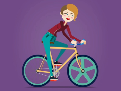Girl Bicycle Cycle - Social Coatch