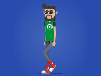 Hipster Walk Cycle - Social Coatch