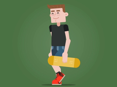 Skater Walk Cycle - Social Coatch