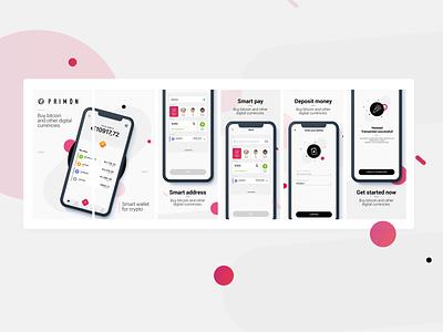 Primon cryptocurrency crypto wallet apple branding ux ui app appstore