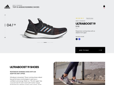 TOP 10 Adidas Running Shoes exploration webdesign sports running design shoes ui ux webpage adidas