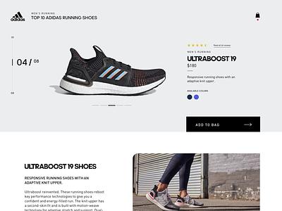 TOP 10 Adidas Running Shoes exploration webdesign sports running design shoes ui ux webpage adidas