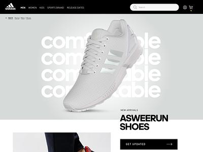 AdIdas ASWEERUN running ecommerce design ecommerce webdesign ux ui exploration design adidas