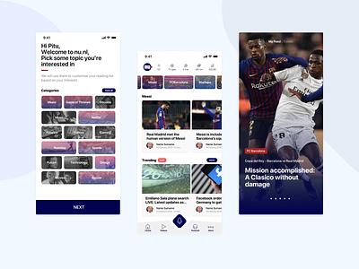 Nu.nl   The future of Digital News reading app news newsfeed app ux design ui