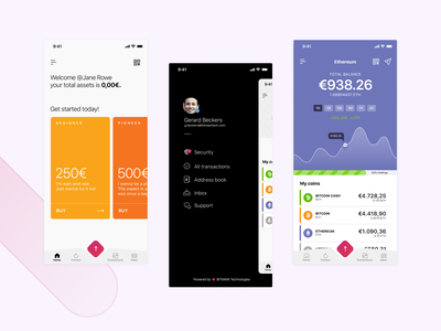 Primon   Your digital wallet digital wallet ecommerce banking fintech app design ui ux cryptocurrency crypto wallet