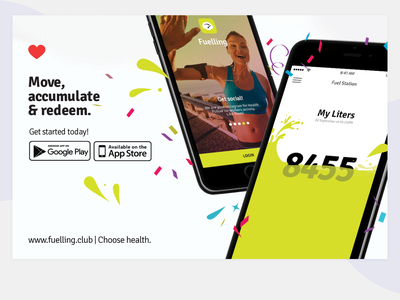 Fuelling   Move, accumulate & redeem fuelling startup excercise wellness employee engagement sports app rewards ux ui