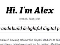 Hi, I'm Alex