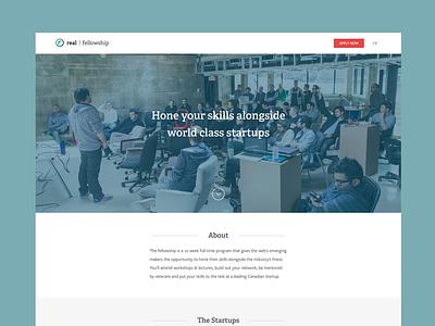 The Real Fellowship landing real ventures startups fellowship