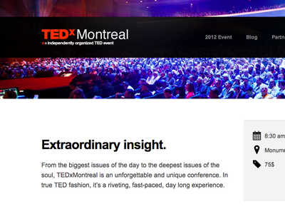 TEDxMontreal tedxmontreal tedx conference event