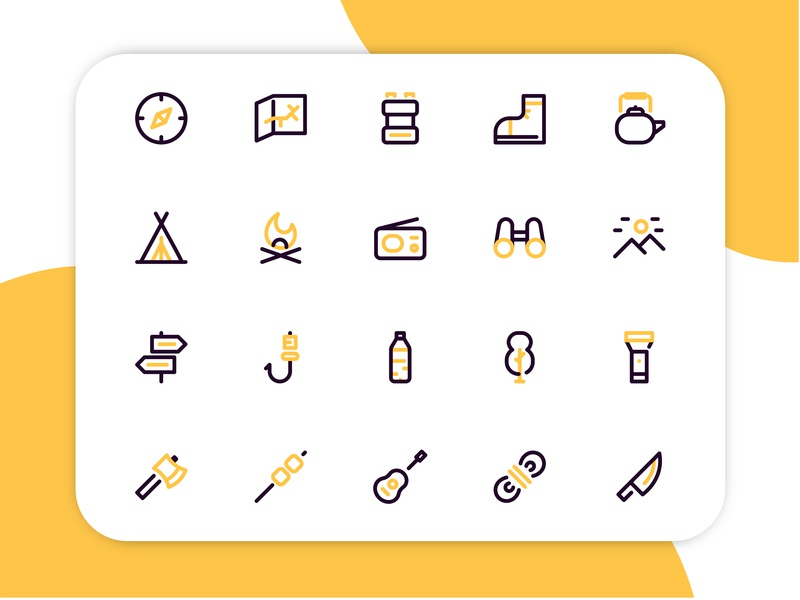 Camping Icon icons simple camping apps app ui outline line iconset minimalist design iconography icon