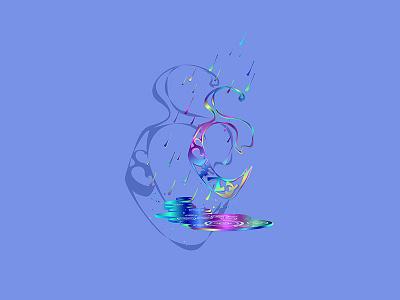 Enochian R Rain Pattern neon triskele symbol angelic enochian