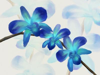 Blue Orchids Speedpaint blue orchids speedpaint