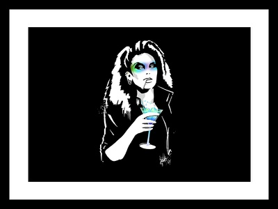 Darkwave Martini punk 80s martini ink neon