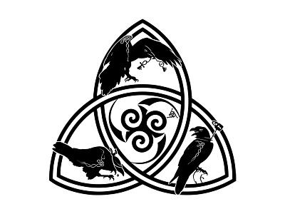 Triskel Logo vector occult ravens crows triskele