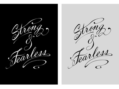 Strong And Fearless tee slogan strong tattoo typography fearless