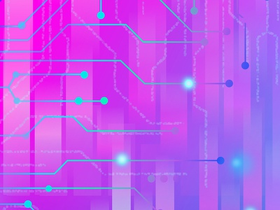 Circuit pattern (purple) circuits pattern vector circuitboard neon retro