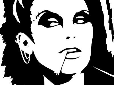 Darkwave Black Ink illustration punk inkscape ink vector ink portrait black ink