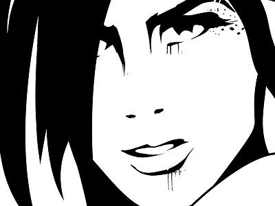 Ink black version inkscape ink portrait portrait retro ink comic style black ink