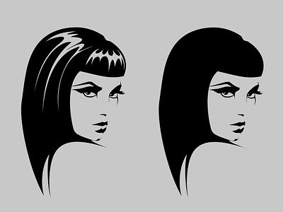 Cleo Ink Version graphic art comic art ink portrait