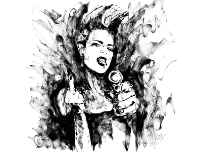 Hi And Fuck You Speedpaint cyberpunk speedpaint ink portrait