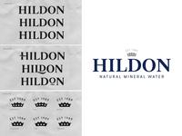 Hildon Water hand lettering sketch custom type bespoke branding logotype lettering logo type typography