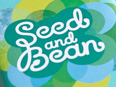 Seed And Bean type logo typography lettering hand lettering natural brush style chocolate packaging