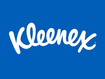 Kleenex Logo branding typography lettering hand drawn script calligraphy hand lettering logotype logo type