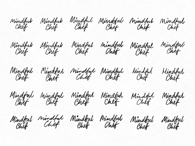 Mindful Chef Scribbles sketch calligraphy hand lettering identity signature hand drawn script logotype branding lettering logo