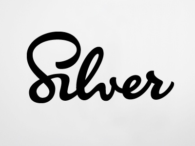 Silver type logo typography lettering hand lettering natural brush style brush script crafted flowing ligature
