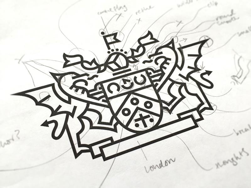 CIM Crest crest logo logotype symbol coat of arms dragon shield flag banner marketing