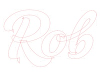 Rob – final vector drawing stage