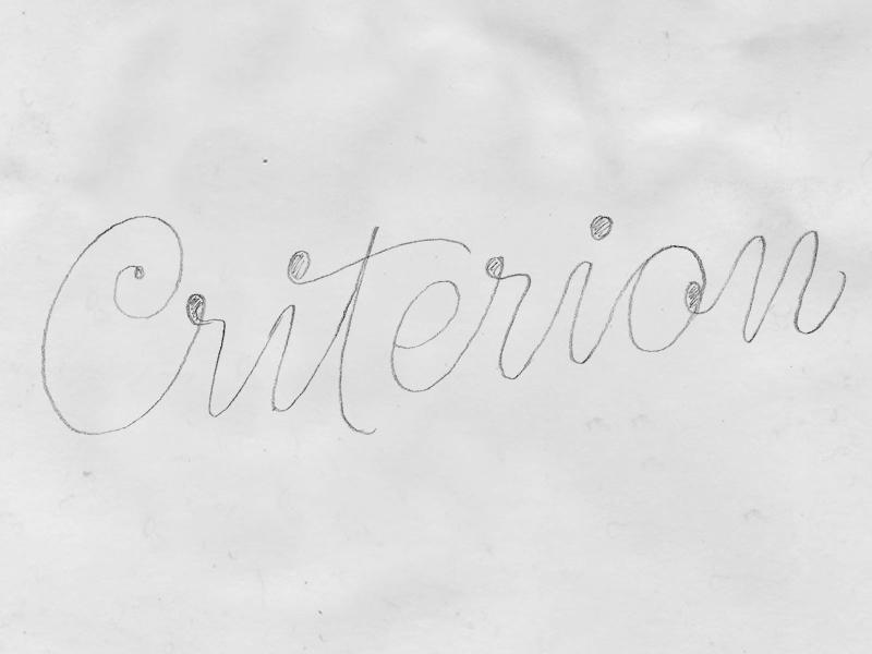 Criterion Sketch sketch letters identity bespoke lettering branding type typography ice-cream logotype logo