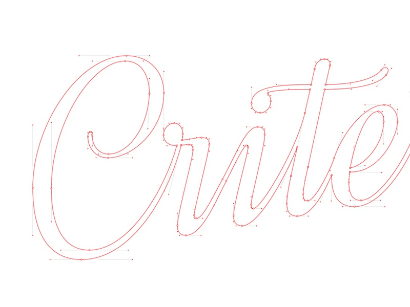 Criterion Vectors sketch letters identity bespoke lettering branding type typography ice-cream logotype logo