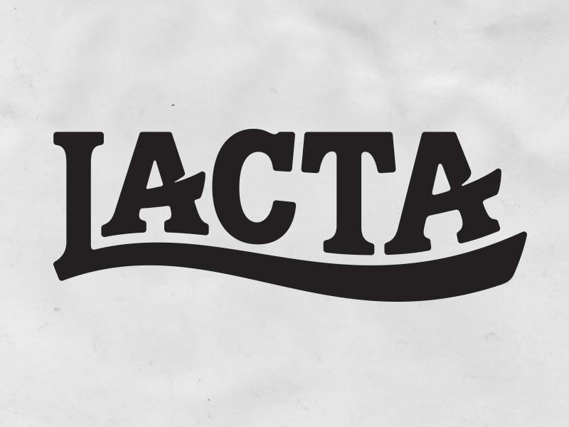 Lacta sketch letters identity bespoke lettering branding type typography chocolate logotype logo
