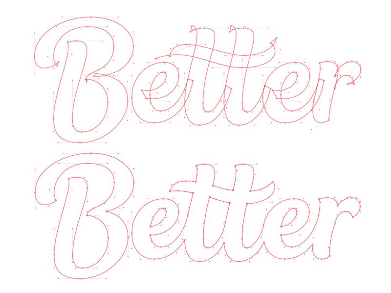 Better vectors? vector letters identity bespoke lettering branding type typography logotype logo