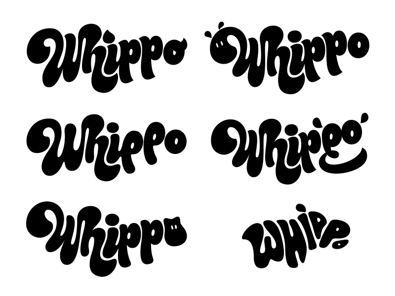 Whippo Worked-up Routes hippo ice-cream identity bespoke typography logotype branding logo sketch type