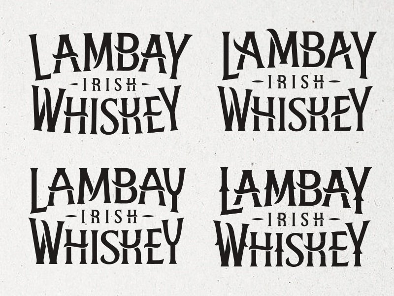 Lambay Irish Whiskey – Early Routes ireland whiskey hand drawn identity packaging typography logotype branding logo type