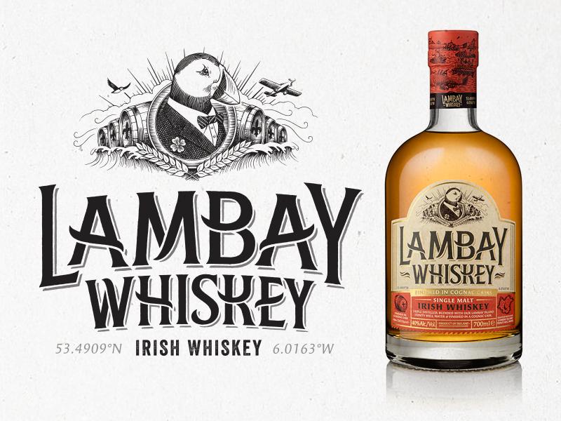 Lambay Whiskey – Final Logo ireland whiskey hand drawn identity packaging typography logotype branding logo type