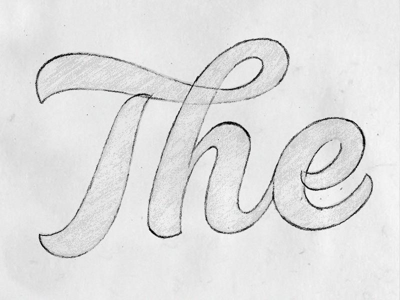 The lettering pencil craft bespoke typography logotype branding logo sketch type