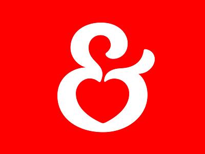 I ❤️ Ampersands ampersand heart love typography logotype branding logo symbol type