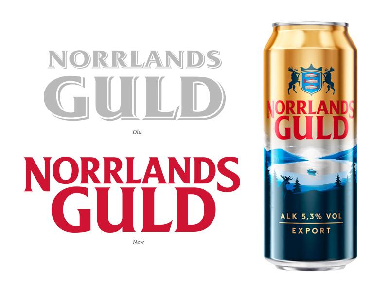 Norrlands Guld beer hand crafted brand custom type hand drawn bespoke packaging branding hand lettering logotype type typography lettering logo
